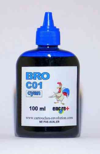 Recharge encre cyan C01 BROTHER - 100 ml
