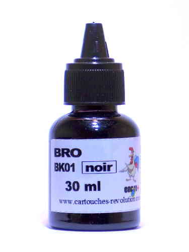 Recharge encre noire BK01 BROTHER - 30 ml