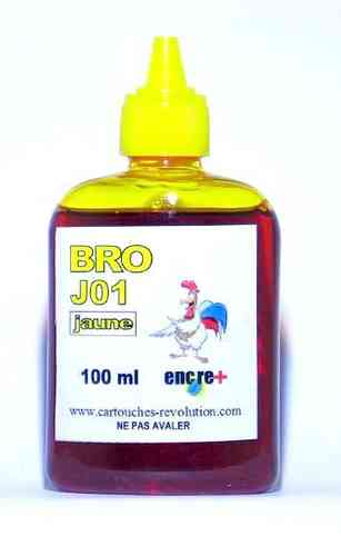 Recharge encre jaune J01 BROTHER - 100 ml