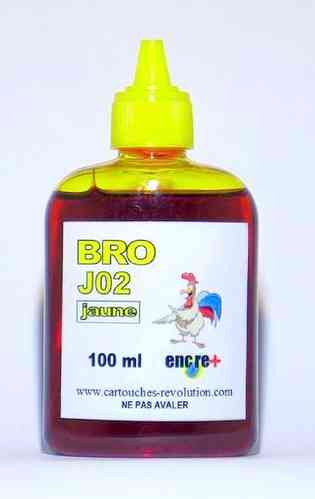 Recharge encre jaune J02 BROTHER - 100 ml