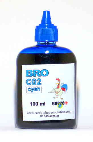 Recharge encre cyan C02 BROTHER - 100 ml