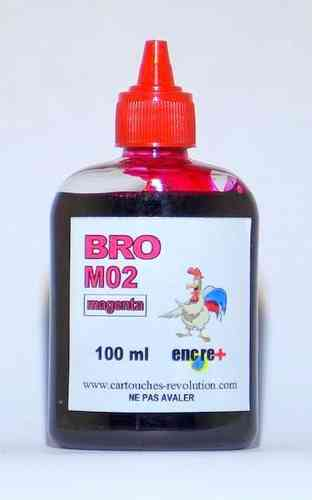 Recharge encre magenta M02 BROTHER - 100 ml